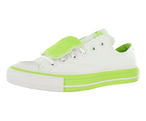 Converse Ct A/S Double Tongue Ox Mens Shoe Size 6 White/Lime