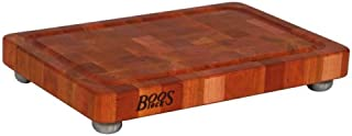 John Boos Block CHY-1812175-SSF Cherry Wood End Grain Butcher Block Cutting Board with Juice Groove and Stainless Steel Feet, 18 Inches x 12 Inches x 1.75 Inches