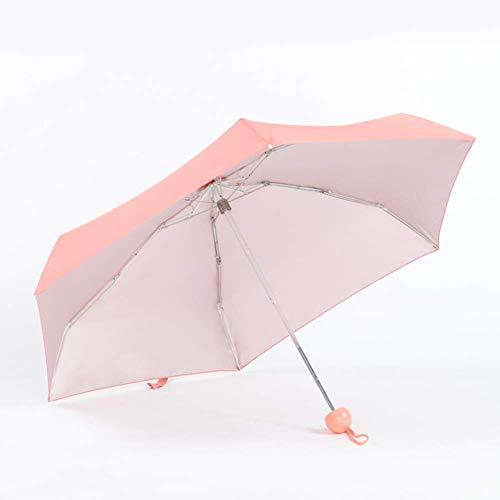 GPWDSN 0.5lb / 7 Pulgadas Ultraligero Mini Anti-Paraguas con Funda de cápsula, Paraguas Plegable Compacto para Mujeres niñas (Rosa)