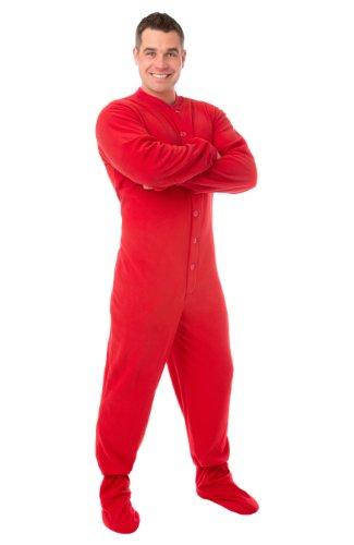 Big Feet Pyjama Co Pijamas de patas pijamas Micropolar adulto Grandes Rojo