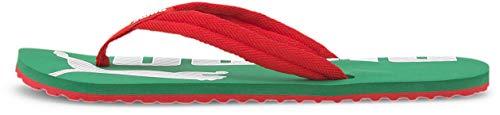 PUMA Chanclas unisex para adultos., (Rojo de alto riesgo/Amazon Green), 43 EU