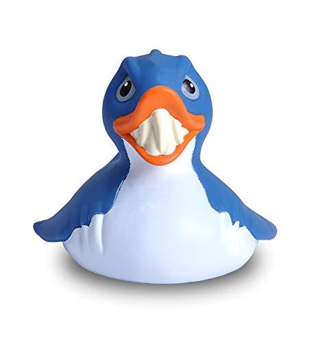 Wild Republic Rubber Duck, Squalo, Papera Di Gomma, Papera Giocattolo, Regalo Per Bambino, Bambini Ed Adulti, 10 cm, (23207)