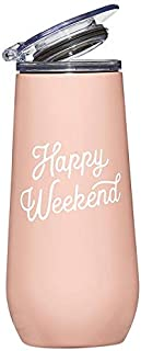 Santa Barbara Design Studio SIPS Drinkware Champagne Tumbler, 12-Ounce, Weekend
