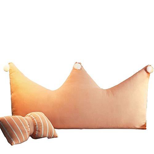 FYMDHB886 slaapzak kussen grote rugleuning gewassen katoen kroon kussen eenvoudige rooster afneembaar en wasbaar kussen, 180x90cm, A