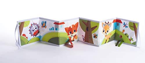 Tiny Love Meadow Days Double Sided First Book Libro Primi Mesi in Tessuto, con Nastri Colorati e Figure In Rilievo, per Neonati e Bambini Piccoli