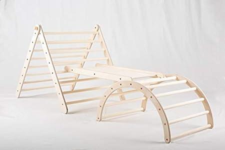 Pandaling Set verstellbares Kletterdreieck groß mit Rutsche Bogen