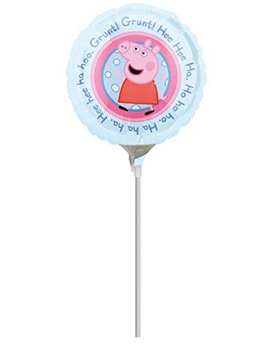COOLMP – Lote de 12 Globos de Aluminio Peppa Pig 23 cm – Talla única – Decoración Accesorios de Fiesta, animación, cumpleaños, Boda, Evento, Juguete, Globo