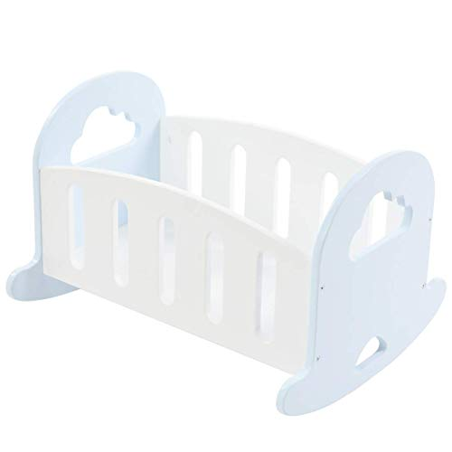 Labebe Wooden Doll Rocking Cradle,Baby Doll Furniture,Pretend Play Toys for Boys&Girls,Bedroom Furniture Accessory for 18 Inch Dolls