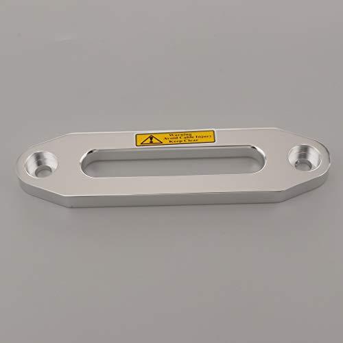 Joyfulstore- 6000Lbs Aluminum Alloy Hawse Fairlead for Synthetic Rope, 8.07Inch Winch Fairlead (Silver)
