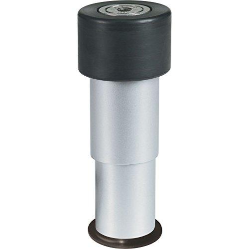 Locinox Torstopper | Torpuffer | Bodenanschlag | GATESTOP | Aluminium | Höhe: 6-14 cm | 1 Stück
