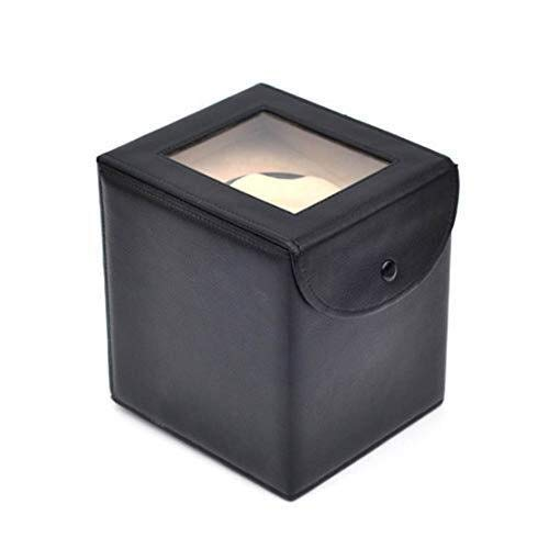 CCAN Relojes Caja enrolladora de Reloj automática Almacenamiento de Cuero 5 Modos Motor silencioso de Lujo Pintura de Piano Brillo negro-18 x 18 x 21 CM Interesting Life
