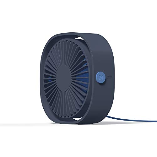 Moojay USB Fan 3 Controllo velocità del Vento | Mini Ventilatore Portatile Regolabile a 360 ° per Home Office e Viaggi