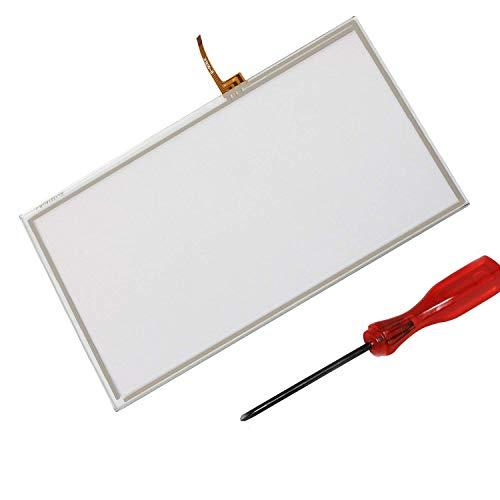 Timorn Ersatz Controller Touchscreen Digitizer Pad Ersatz für Wii U Gamepad (1 x Touchscreen + 1 x Schraubendreher)