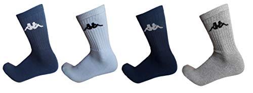 Kappa . 6/12 paia calze calzini, calzini sportivi in spugna, altezza metà polpaccio,calzini tennis,calzini trekking per uomo e donna,vari assortimenti (42-44, 6 paia ASSORTITI)