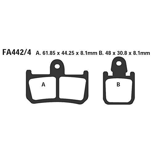 EBC Blackstuff Plaquettes de frein organiques pour Yamaha – YZF R1 | YZF R1 | MT-01 | MT-01 SP | XV 1700