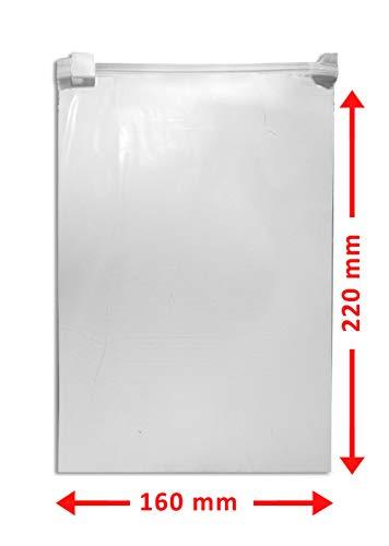 WeltiesSmartTools Gleitverschlussbeutel 60µ 160x220mm DIN A5 50 Stück Wiederverschließbar mit praktischem Schieber Handgepäck-Flüssigkeiten-Beutel