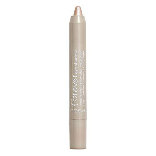 GOSH Forever Eye Shadow Lidschatten-Stift mit cremiger Textur für einfaches Auftragen und intensives Farbergebnis | wasserfest, hält bis zu 8h | parfümfrei & hautverträglich | 002 Beige (Metallic)