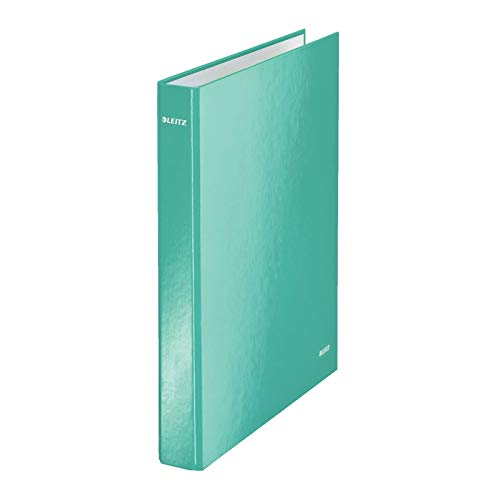 Leitz 42410051 Ringbuch wow, A4, PP, 2 Ringe, 25 Cm, eisblau