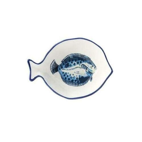 D & C Supplies Dish of The Day Fish Porcelain SMALL Dish Dining Tableware