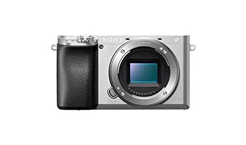 Sony Alpha 6100LS   Appareil photo hybride APS-C, Kit boîtier + optique E 16-50mm (AF en 0.02s, Suivi des Yeux Humains et Animaux, Vidéo 4K, Ecran Selfie Vlogging), (ILCE6100, A6100) Argent