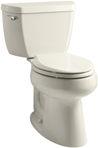 Kohler K-3658-47 Highline Classic Class Five Comfort Height Toilet with Left-Hand Trip Lever, Almond