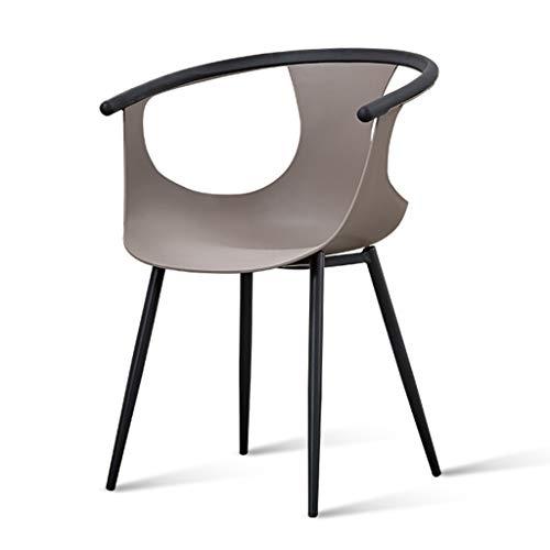 Sedie Sedia da Pranzo Sedia da Ristorante per Il Tempo Libero Sedia da Trucco per Camera da Letto Assembla la Sedia Pranzo in Cucina (Color : Grey, Size : 59 * 47 * 82cm)