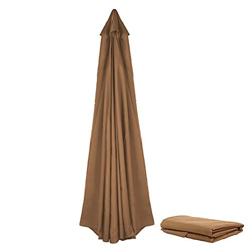 YHNJI Parasol de repuesto para sombrilla de patio, de 9.9 pies de grosor, cubierta de toldo de repuesto para sombrilla de 8 varillas para exteriores, patio, jardín, playa, piscina