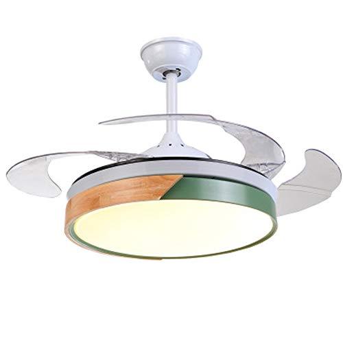 Hubling Plafondventilator, inklapbaar, licht, met afstandsbediening, led, onzichtbare plafondventilator