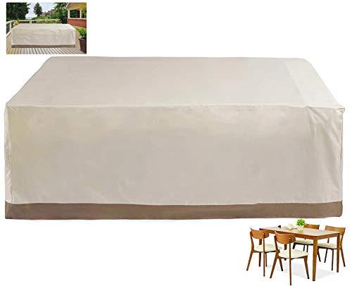 WYYL Funda para Mesa de Jardín, Cubierta Muebles de Mesas 420D Oxford Impermeable Exterior, Anti-UV Resistente al Polvo, Fundas Protectora contra el Frío, para Sofa de Jardin, Mesa y Sillas