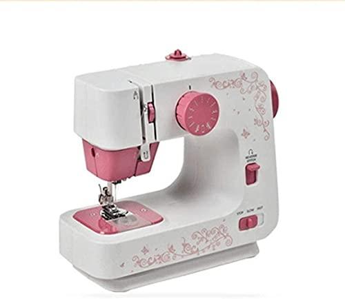 Máquina de coser doméstica de Yaunli Máquina de coser portátil Hilo doble Brazo libre mejor para principiante y usuario avanzado 12 Máquina de coser portátil (color, tamaño: 22x12x22cm)