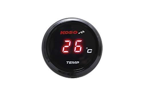 KN企画 KOSO LED 防水 バイク 単車 オートバイ 温度計 水温計 油温計 メーター アダプター センター レッド 12V