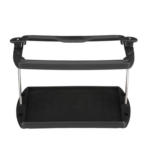 Seachoice 21961 USCG-Approved Premium Marine Group 24 Series Hold-Down Battery Tray, Black