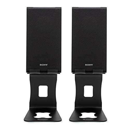 Sony SSCS5 3-Way 3-Driver Bookshelf Speaker System (Pair) Bundle with Knox Gear Monitor Stands (2 Items)