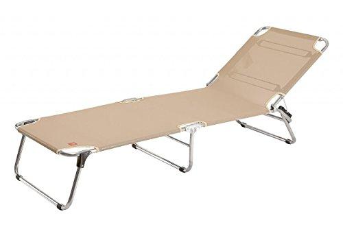 Jan Kurtz Fiam Amigo Chaise longue en aluminium/chaise longue trois pieds breite 60cm x länge 190cm x höhe 39-42cm gris