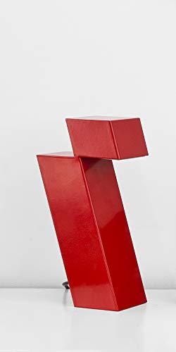 Falsa Escuadra. Lámpara de mesa Itero. Lámpara LED. Diseño Minimalista. (Rojo)