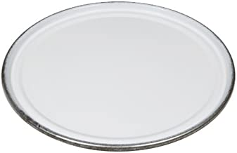 New Pig Unlined 18-Gauge Steel Drum Lid With Gasket, For 55 Gal Steel Drums, Bolt-Ring, Without Bungs, White, DRM538