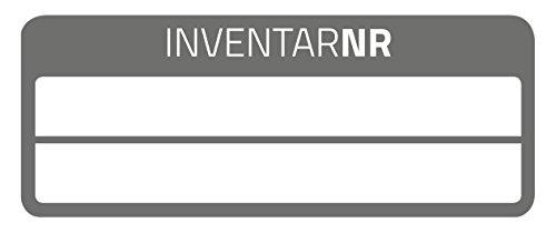 AVERY Zweckform 6918 fälschungssichere Inventaretiketten (extrem stark selbstklebend, Kleinformat, 50x20 mm, 50 Aufkleber auf 10 Blatt) weiß/schwarz