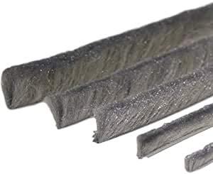 Bürstendichtung Meterware mit Nut von 5mm bis 25mm für Fliegengitter Dichtung Fenster Türen Insektenschutz Rolladen Rolläden mit Nut (10, 6,7 x 7mm)