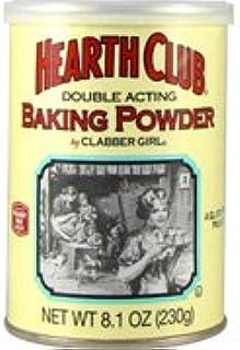 Health Club Double Acting Baking Powder - 8.1 oz,(Clabber Girl)