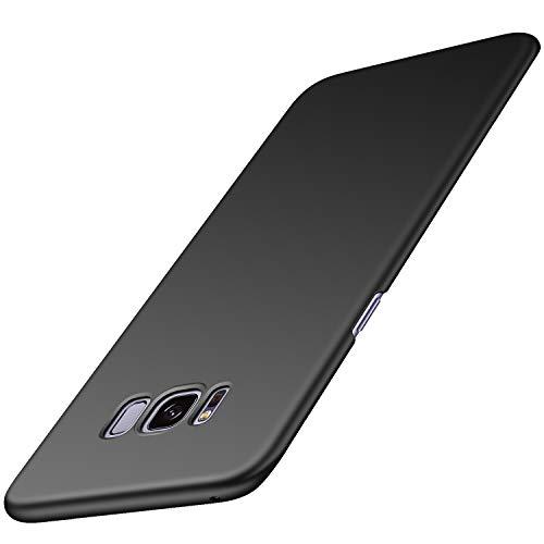 Arkour Cover Galaxy S8 Plus, Minimalista Ultra Sottile Case con Superficie Opaca Liscio Rigida Custodia per Samsung Galaxy S8+ (Nero Liscio)