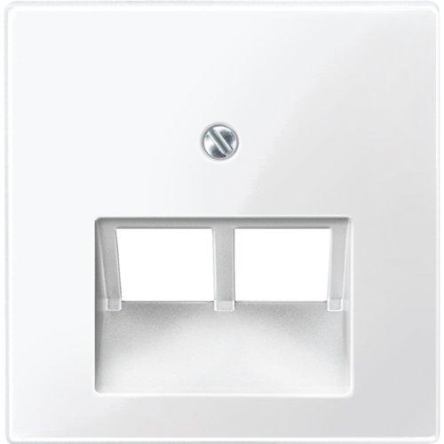 Merten 296119 Zentralplatte für UAE-Einsatz, 2fach, polarweiß glänzend, System M, 1x