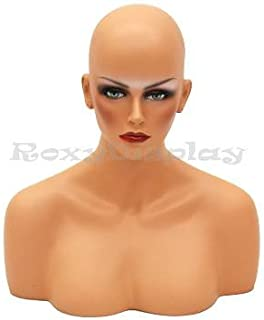 Roxy Display (MD-Megan) Female Mannequin Head to Shoulder Portrait Style,