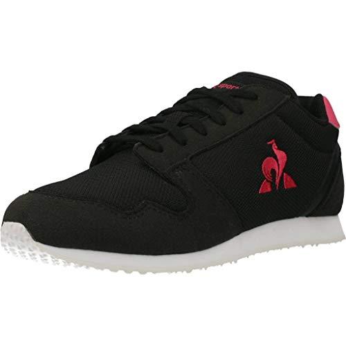 Le Coq Sportif Unisex-Kinder Jazy Gs Sneaker, Schwarz/Geißblatt, 33 EU
