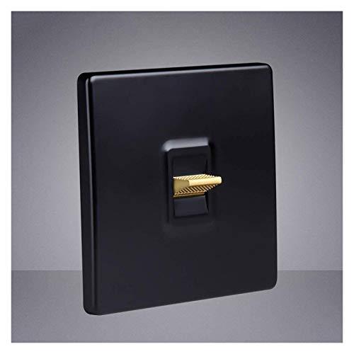 Black Retro Switch Panel Nordic Creative Interruptor de conmutación Tipo 86 Dual Control Home Office Light Light Light Action Interruptor de control de doble panel personalizado Cambio de palanca Lzpz