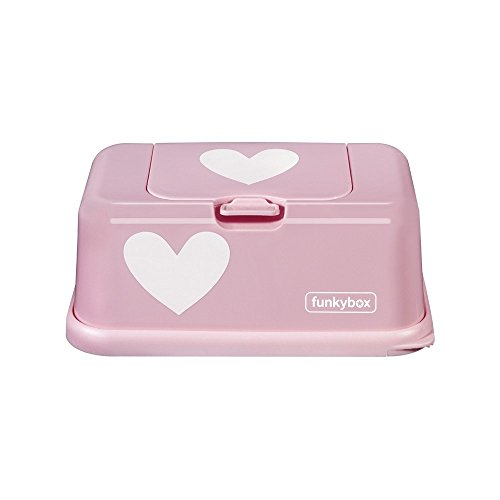 Funkybox FB06 Cajita para Toallitas Húmedas, Rosa (Diseño Pink Heart)