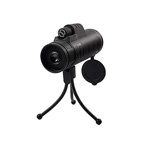 LXHJZ Telescopio binoculares monocular, Nivel luz bajo con trípode para Montaje en teléfono, telescopio Impermeable Alta Potencia para observación Aves, Senderismo, conciertos, 35 x 50