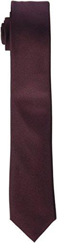 Seidensticker Herren Krawatte Schmal , Rot (Rot 49) , 5 cm Breit