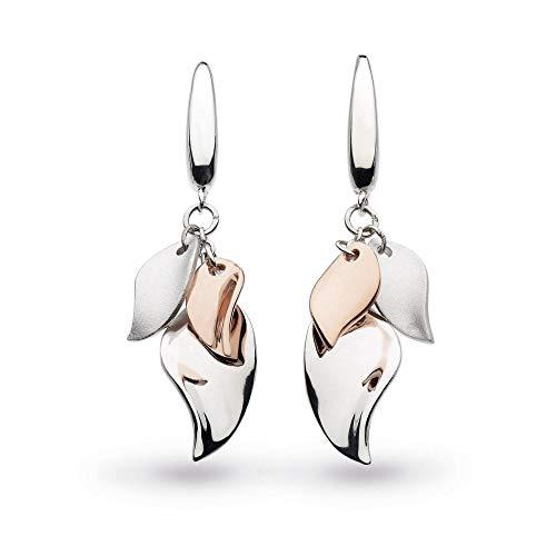 Kit Heath Enchanted Cluster Leaf Rose Gold Drop Earrings 60026RG024