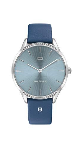 Tommy Hilfiger Analoog Quartz Horloge voor dames met lederen band 1782213