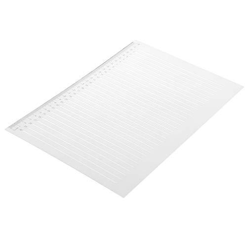 perfeclan Regla de Plástico Regla Recta Herramienta de Medición de Plástico Regla de Línea de Dibujo 28 Cm / 11 Pulgadas, 1 Pieza (Transparente)